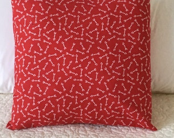 Valentine's Day - Pillow Cover - Hearts - Swappillow Covers - Gift - Envelope Closure - Decorative Pillow Cover - 16x16 - Red - Love