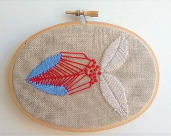 Embroidered Hoop. Fish