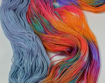 Colors of the Wind- Hand Dyed Yarn - Fingering Weight / Sparkle / Worsted Worsted