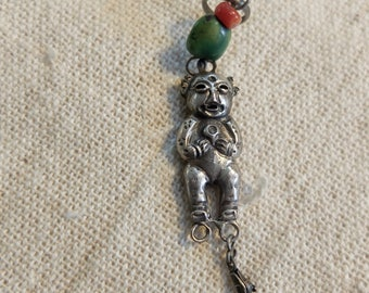 Antique Chinese silver charm figurine