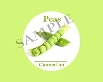 Peas Round Canning Label #L363