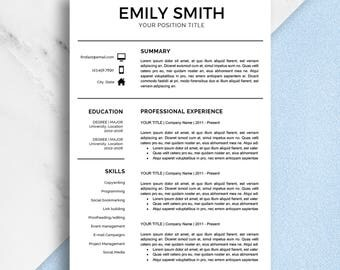 modern resume template two page resume resume template