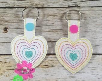 Layered Heart Keyfob/Zipper Pull-Pastel Colors-LLR inspire-Roe-Lularoe