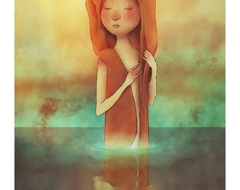Lady in the Lake | A4 Art Print
