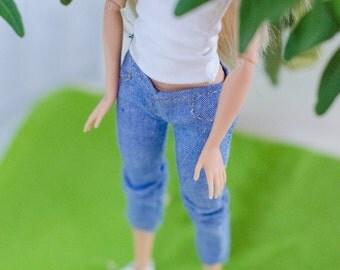 Barbie clothes/ Barbie clothes set / clothes for fashion royalty,poppy Parker and etc /Barbie pants/ Barbie top/ Barbie jeans