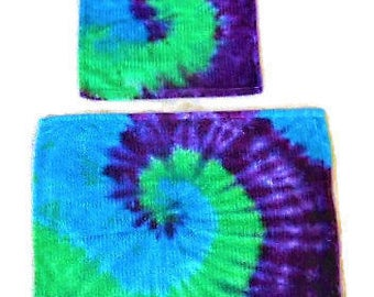 Tie Dye Bath Towel Set// Kitchen Towel// Hippie Home// Hippie Towel set// Hippie Bathroom// Hippy Kitchen// Housewarming gift// Dorm//  K8