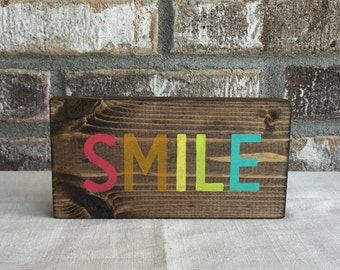 Smile Sign, Wood Smile Sign