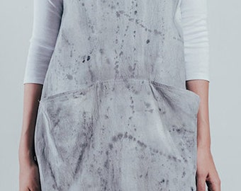 Smock,Tunic,Over-wear,Apron,Pinafore,Hand Dyed,Natural Fibers,100% Cotton,Pre-washed