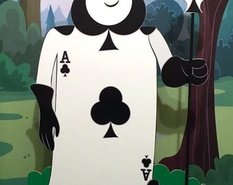 Card Soldier Clubs - Alice in wonderland - Party decoration - Cut out/standee