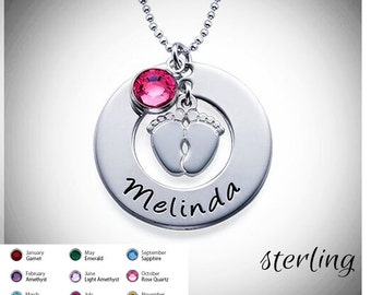 NEW MOMMY Custom Sterling Necklace - Free Shipping
