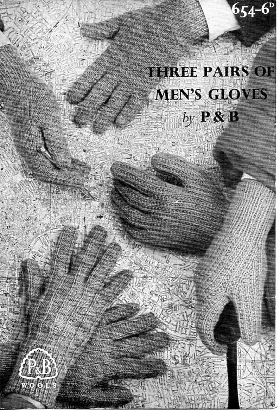Knitting Without Needles Pdf : Mens gloves knitting pattern pdf needles dk or ply