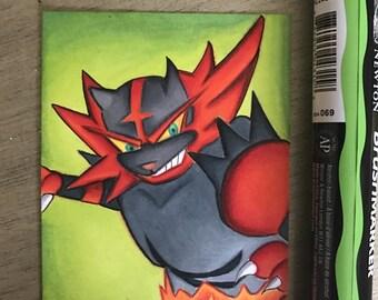 Incineroar Art Trading Card
