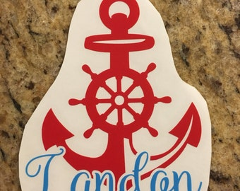 Boat Anchor Decal - anchor decal - pirate - nautical decal - nautical theme