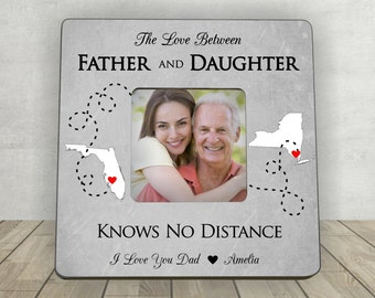 Gift for Dad, Father's Day Gift for Dad, Father Daughter Gift,Personalized Picture Frame,Long Distance Gift,Love Between Father and Daughter