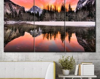 Mountain wall art, Mountain sunset art, Nature canvas, Large canvas art, Art canvas print, Wall art canvas, Mountain print, Wall art decor