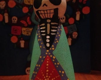 Day of the Dead - Calavera Peg Doll