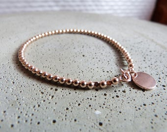 Bullet bracelet 3 mm rose gold filled