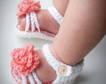 Crochet Baby Shoes, Crochet Baby Sandals, Baby Girl Sandals, Crochet Baby Girl Shoes, Made to order, handmade baby shoes, baby summer shoes