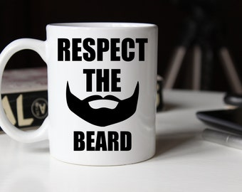respect the beard etsy. Black Bedroom Furniture Sets. Home Design Ideas