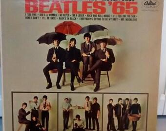 Beatles 65 LP Vintage Vinyl Record and Album Cover