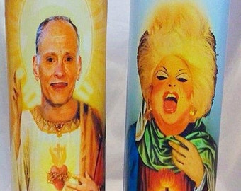 Saint John Waters and Saint Divine Prayer Candle Set