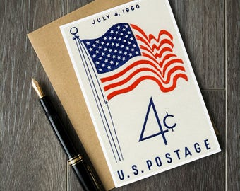 4th of July cards, July 4 party invitations, Independence Day party cards, Fourth of July cards, Happy Independence Day cards, vintage stamp