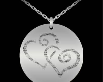"ENGAGED! Intertwined Hearts Necklace is the perfect way to say you are Engaged or Newly Married! 20"" Stainless Steel! Durable!"
