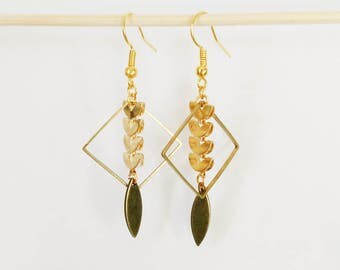 Earrings ear half moon gold