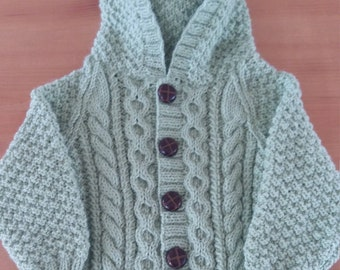 Hand knitted boys jacket