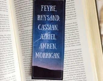 A Court of Mist and Fury Characters Quote Bookmark
