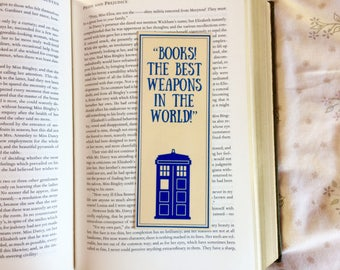 Doctor Who Tardis Quote Bookmark