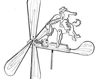 Rodeo Champ Whirligig #609 -  Woodworking / Craft Pattern.