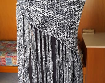 Heather grey shawl.