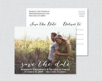 Printable OR Printed Photo Save The Date Postcards   Photo Save Our Date  Postcards   Save