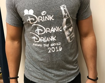 Drink, Drank, Drunk Shirt for Men