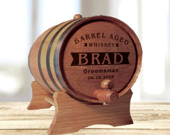 Personalized Groomsmen Gift, Whiskey Barrel, Father of the Bride Gift, Father of the Groom Gift, Asking Groomsmen, Groomsmen Gift Idea Groom