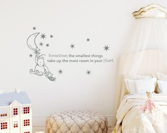 Winnie The Pooh Quote Wall Decal Sometimes... In Your Heart Nursery Decor  Baby Part 45