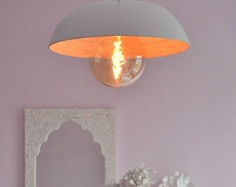 Modern Pendant Bamboo Bowl Light, plus LED Filament Lamp