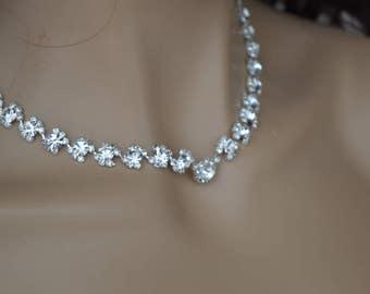 "Set of ""Rebeca"",Rhinestone Jewelry Set, Crystal Wedding Necklace Set, bridal jewelry set, wedding jewelry set, bridesmaid jewelry set"