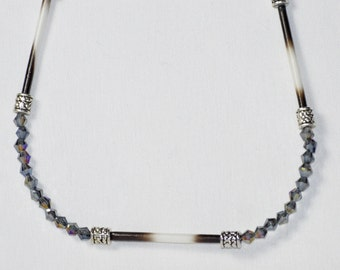 Porcupine Quill  Bead Necklace