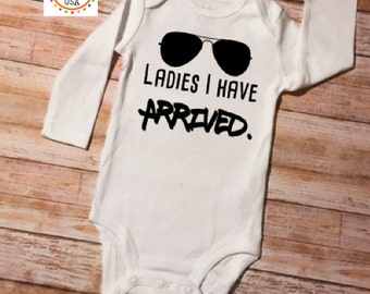 Newborn Baby Boy Clothes, Ladies I Have Arrived, Funny Baby Onesie, Coming Home Outfit, Baby Boy Outfit, Baby Shower Gift