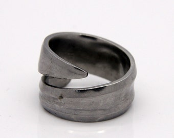 Spoon Ring - Size 8 - Hand Bent By The CrafsMan - Steady Craftin'