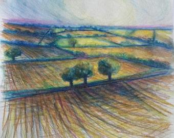 Golden Trees (pencil)