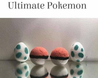 4x Ultimate Pokemon Bath Bomb Gift Set