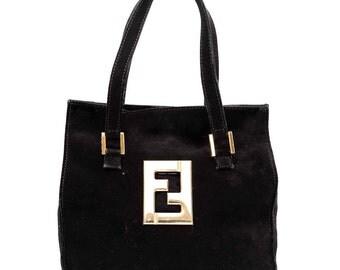 1980s Fendi Suede Tote bag