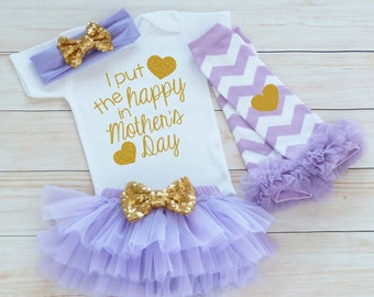 Baby Girl Outfit, Mother's Day Girl Outfit, Baby Girl Mother's Day Outfit, Mother's Day Gift, Mothers Day Baby Clothes, Mother's Day 2017