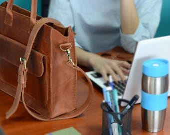 Women's Leather Bag leather handbag leather purse shoulder bag genuine leather bag brown handbag red leather natural leather gift for her
