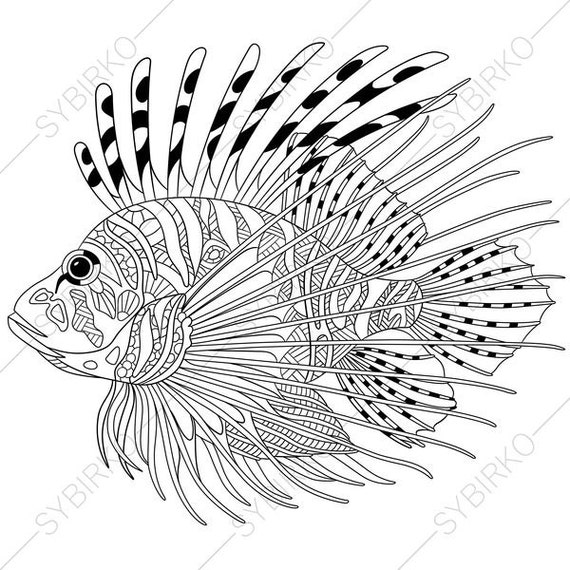 ocean world lionfish zebrafish 3 coloring pages animal