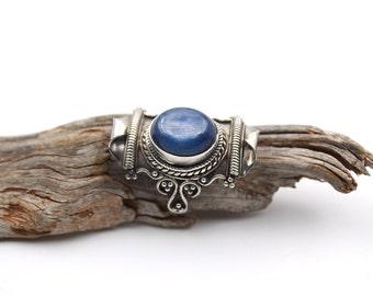 Blue Kyanite Boho Sterling Silver Ring - Kyanite Ring Size  - Blue Kyanite Ring - Disthene Jewelry Blue Gemstone - Size US 6.5 / FR 54.5