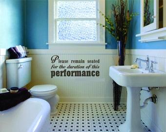 Bathroom Wall Decal Etsy - Wall decals bathroom